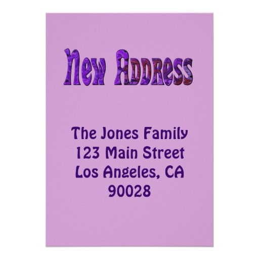 New address personalized announcements zazzle for Custom new address cards