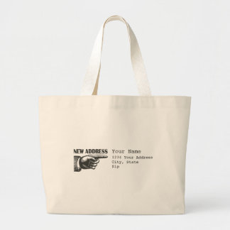 New Address Pointing Hand Jumbo Tote Bag