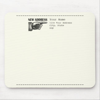 New Address Pointing Hand Mouse Pad
