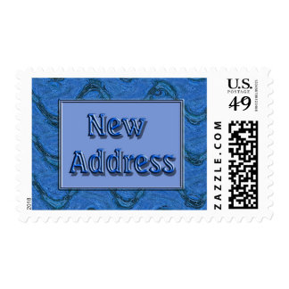 New Address Postage Stamps