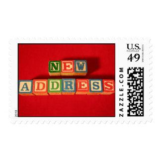 New Address Postage Stamp