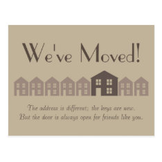 New Address Postcard at Zazzle