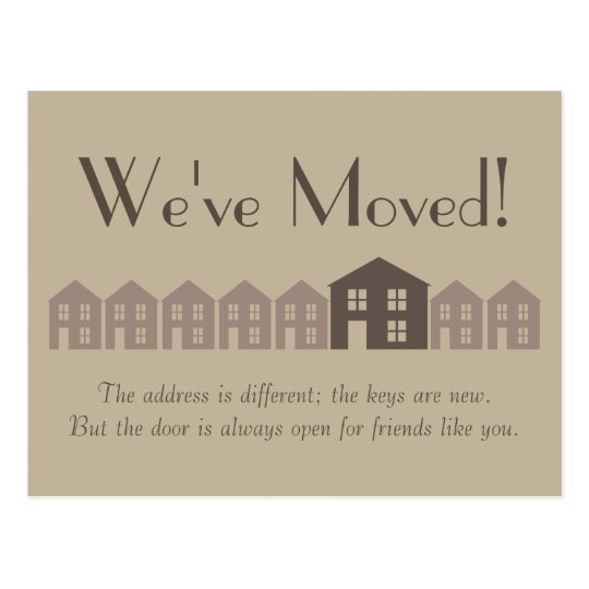 New address postcard zazzle for We have moved cards templates