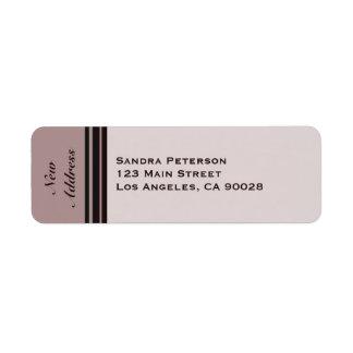 New Address Return Address Label