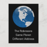 """New Address Same Planet Announcement Postcard (Visit shop for more moving announcements. Type """"moving"""" in the Searchbox)"""