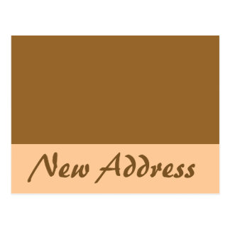 New Address simple brown Postcard