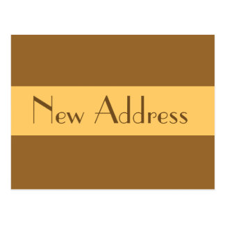 New Address simple light brown Postcard