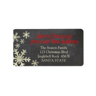 New Address snowflake holiday Label Address Label