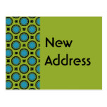 New Address Turquoise Green Postcard