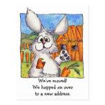 New Address, We Moved! Rabbits Postcard