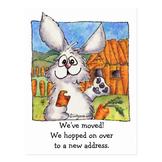 New Address, We Moved! Rabbits Postcard