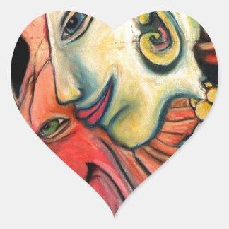 New Age Design Items Heart Sticker