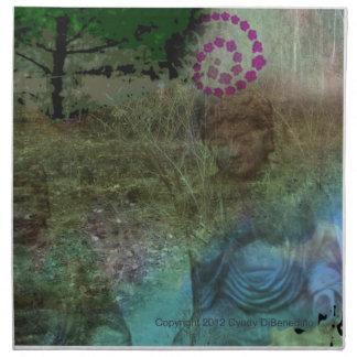 New Age Fantasy Pagan Spiritual Buddha Napkin