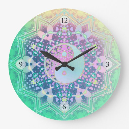 new age feng shui home decor wall clock zazzle new age home decor valentine glass heart gifts buy