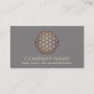 New age business cards templates zazzle new age flower of life spiritual healer business card colourmoves