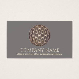 New Age Flower Of Life Spiritual Healer Business Card