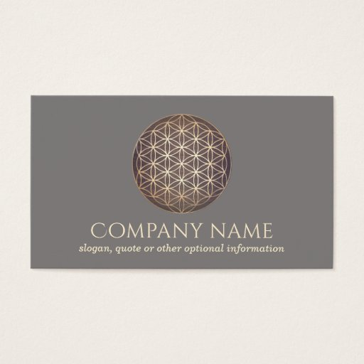 New Age Flower Of Life Spiritual Healer Business Card