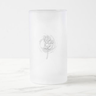 New Age Frosted Glass Beer Mug
