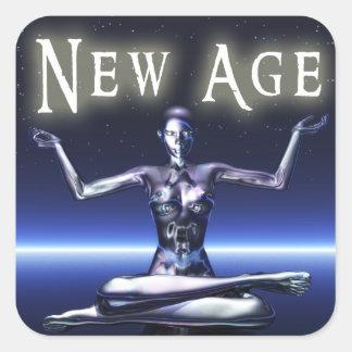 New Age Genre Square Book Cover Sticker