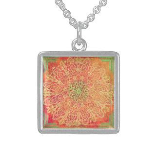 New Age - Geometrical design by Carol Zeock Sterling Silver Necklace