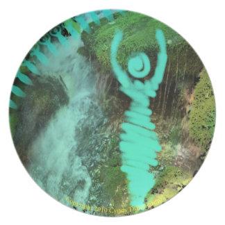 New Age Goddess Fantasy Pagan Moon Star Plate
