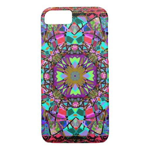 New Age Neon Kaleidoscope Mandala iPhone 8/7 Case