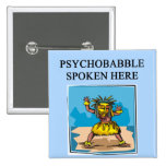 new age psychology design 2 inch square button