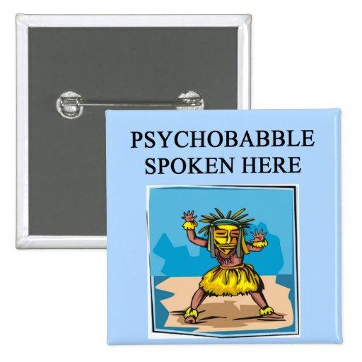 new age psychology design button