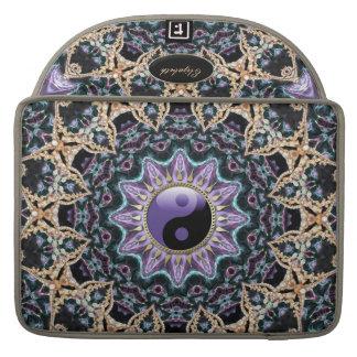 New Age Purple YinYang Mandala Macbook Pro Sleeve For MacBooks