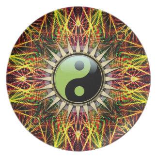 New Age Spirit Yin Yang Symbol  Plate