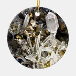 New Age Spiritual Crystal Rock Gemology Ceramic Ornament