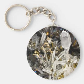 New Age Spiritual Crystal Rock Gemology Keychain