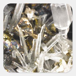 New Age Spiritual Crystal Rock Gemology Square Sticker