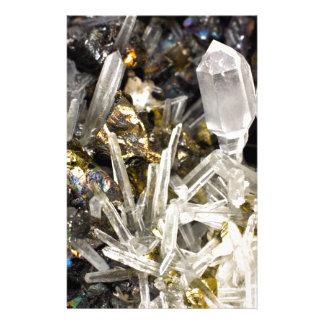New Age Spiritual Crystal Rock Gemology Stationery