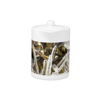 New Age Spiritual Crystal Rock Gemology Teapot