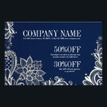 """New Age Yoga navy blue henna bohemian lace Flyer<br><div class=""""desc"""">New Age Yoga navy blue henna bohemian lace business cards and promotional flyers</div>"""