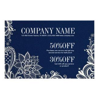 New Age Yoga navy blue henna bohemian lace Flyer