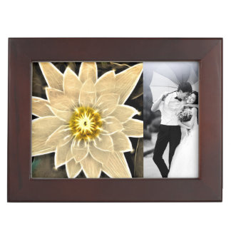 New Age Zen Buddhism Yoga Namaste White Lotus Memory Box