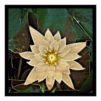 New Age Zen Buddhism Yoga Namaste White Lotus Poster