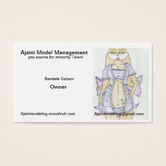 New Ajaini Model Management Business Cards