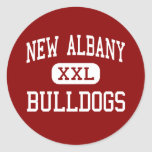 New Albany - Bulldogs - High - New Albany Indiana Round Stickers
