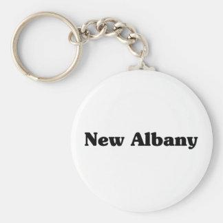 New Albany  Classic t shirts Basic Round Button Keychain