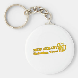 New Albany Drinking Team tee shirts Basic Round Button Keychain