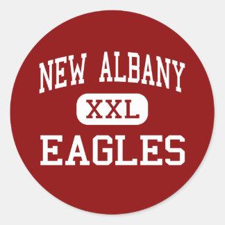 New Albany - Eagles - High - New Albany Ohio Classic Round Sticker