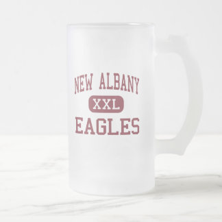 New Albany - Eagles - High - New Albany Ohio 16 Oz Frosted Glass Beer Mug