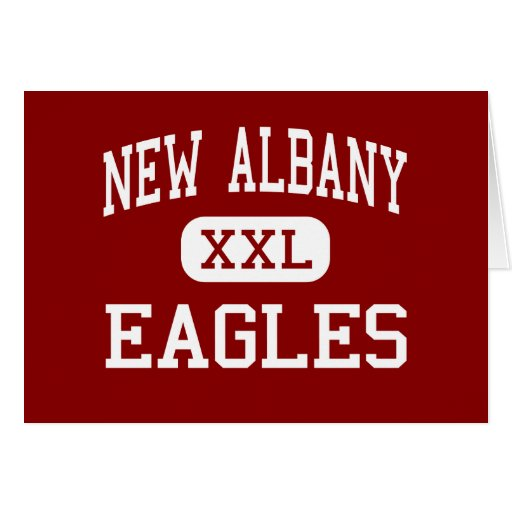 New Albany - Eagles - Middle - New Albany Ohio Greeting Card