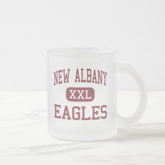 New Albany - Eagles - Middle - New Albany Ohio 10 Oz Frosted Glass Coffee Mug