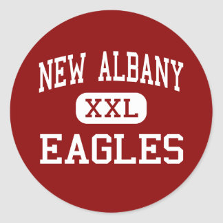 New Albany - Eagles - Middle - New Albany Ohio Classic Round Sticker