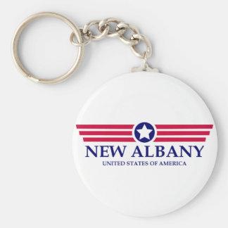 New Albany Pride Basic Round Button Keychain