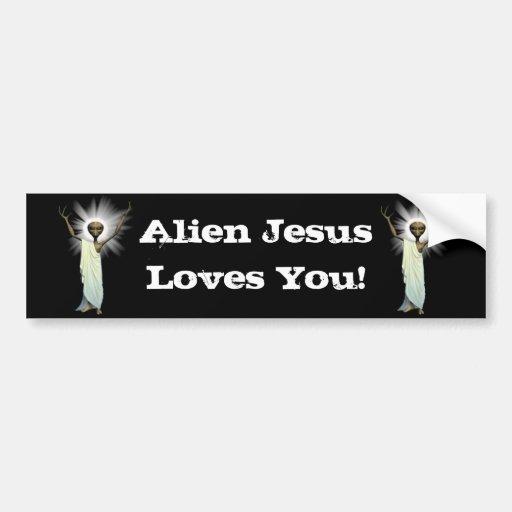 New Alien Jesus Designs Car Bumper Sticker